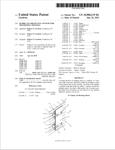 Plyfaster Receives Hurricane Protection System Patent
